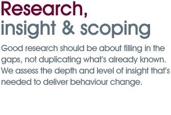 Research, insight & scoping